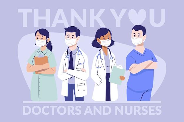 Grazie medici e infermieri Vettore gratuito