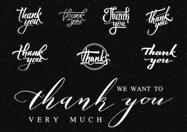 Thank you - insignia is made Premium Vector