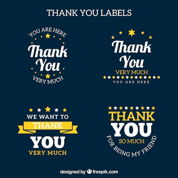 Thank you logo collection Free Vector