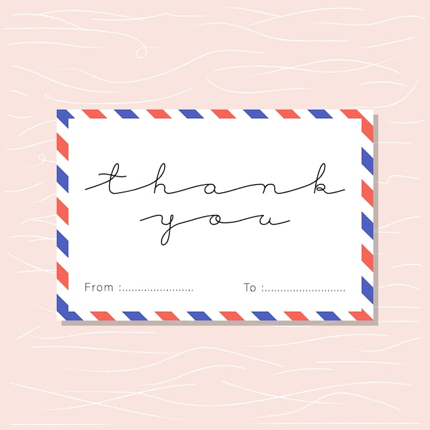 Thank You Mail Card