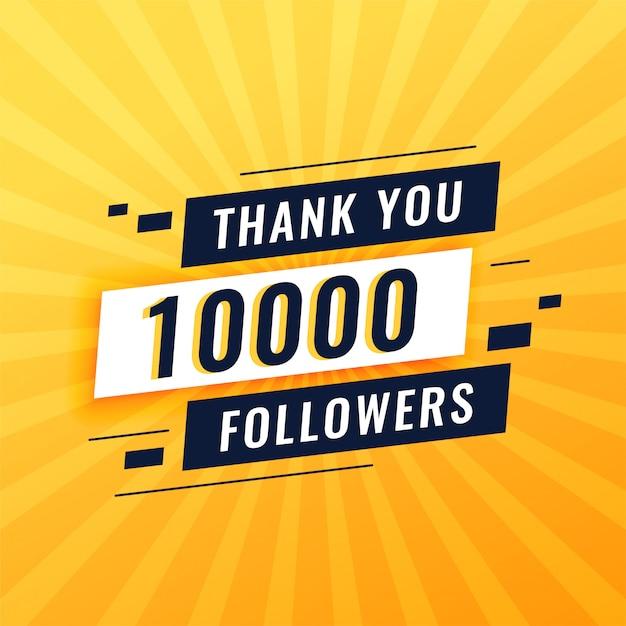 Grazie post per 10.000 follower sui social media Vettore gratuito
