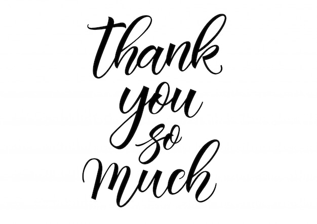 Free Vector | Thank you so much lettering