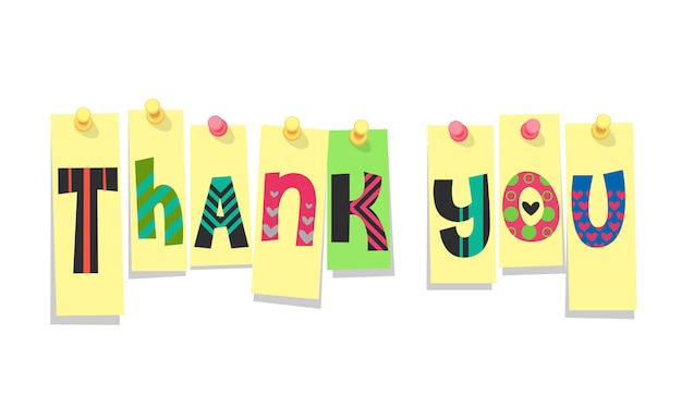 Thank you stickers Premium Vector
