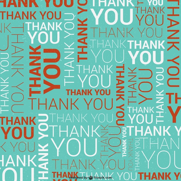 Thank You Typographic Pattern Vector Free Download