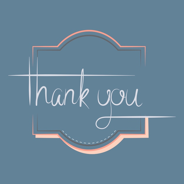 Thank you typography design vector Free Vector