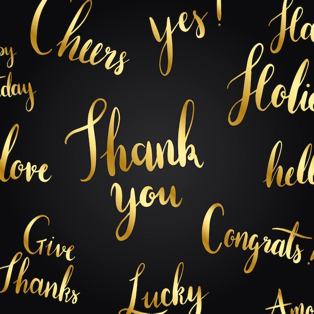 Thank you typography style vector set Free Vector