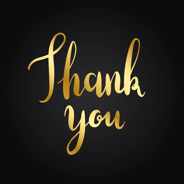 Thank you typography style vector Free Vector