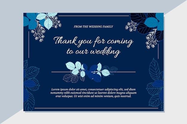 웨딩 카드 감사합니다 무료 벡터