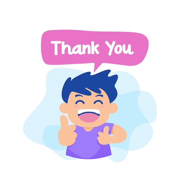 Thank you with character vector Premium Vector