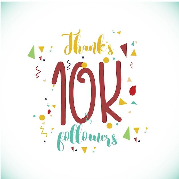 Thanks 100k followers logo Premium Vector