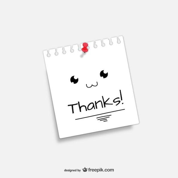 Thanks note Free Vector