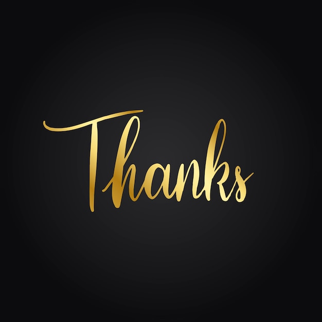 Thanks Typography Wording Style Vector Vector Free Download
