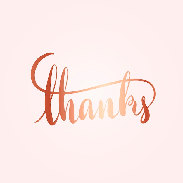 Thanks typography wording style vector Free Vector