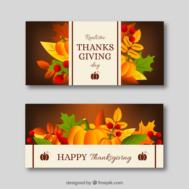 Thanksgiving banners set