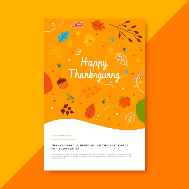 Thanksgiving blog post template with greeting Free Vector