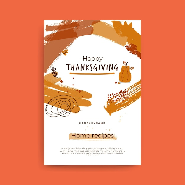 Thanksgiving blog post template Free Vector