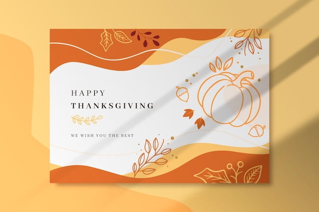 Thanksgiving card template Free Vector