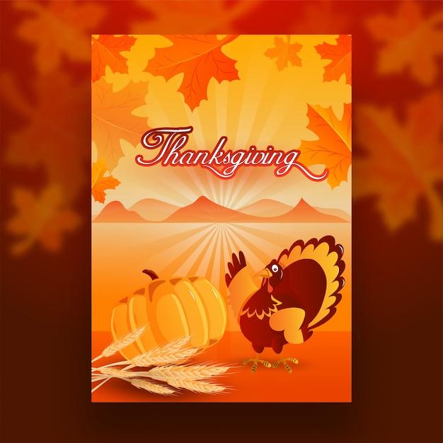 Thanksgiving celebration background. Premium Vector