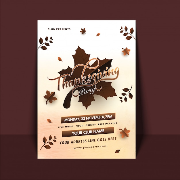 Thanksgiving celebration background. Premium Vector