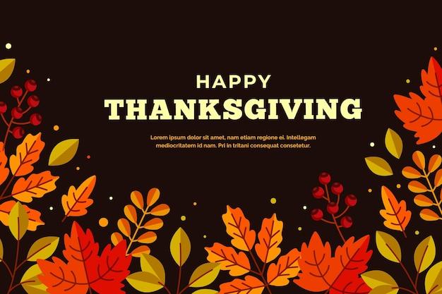 Thanksgiving day background design Premium Vector