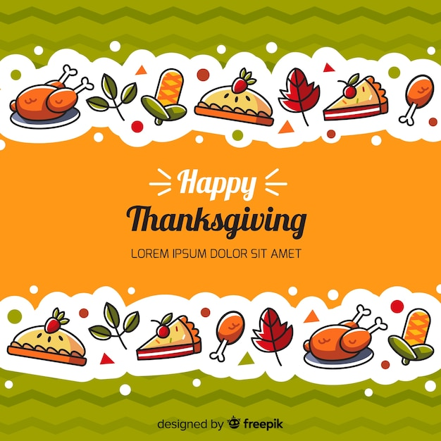 Thanksgiving day background in flat design Vector | Free Download