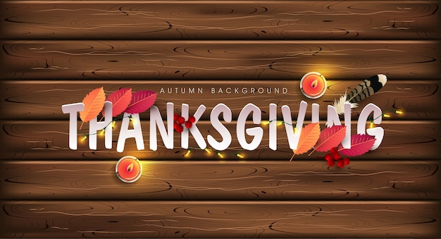 Thanksgiving day background. Premium Vector