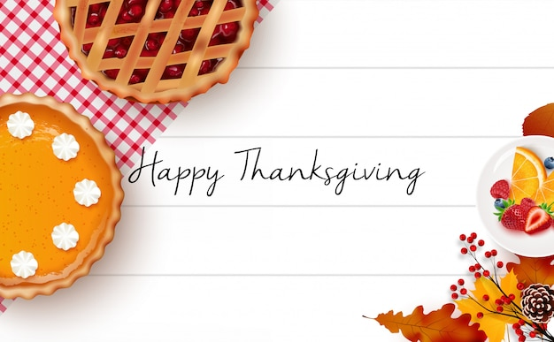 Thanksgiving day background Premium Vector