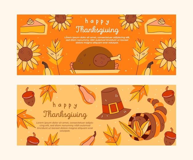 День благодарения instagram баннеры шаблон Бесплатные векторы