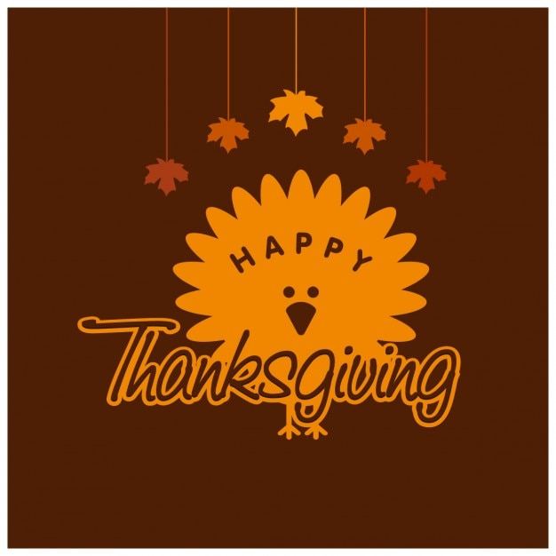 Thanksgiving day logo design Free Vector