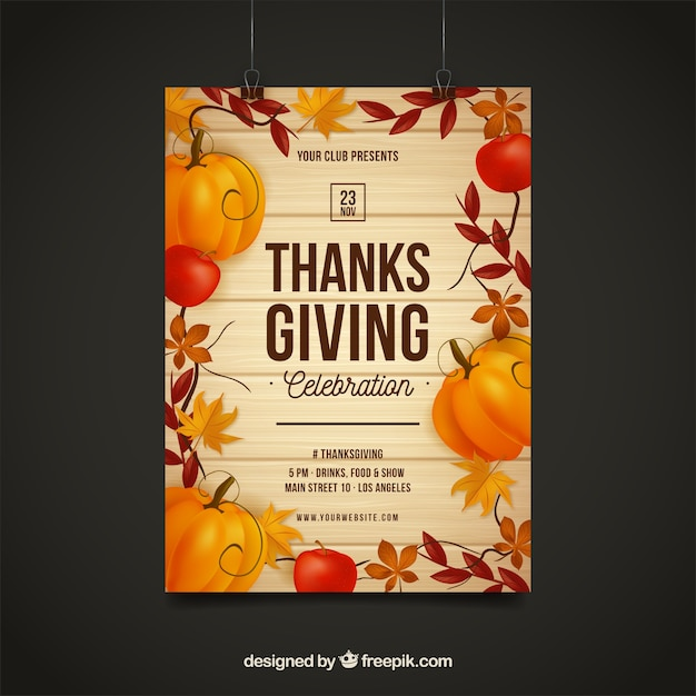 Thanksgiving day posters in vintage\ style