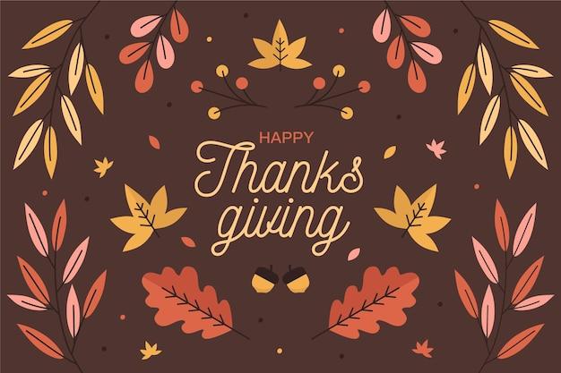 Carta da parati del giorno del ringraziamento Vettore gratuito