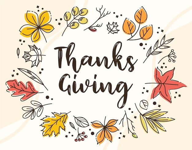 Thanksgiving day. Free Vector