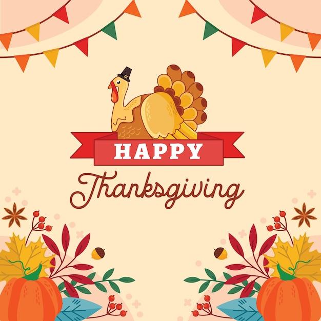 Giorno del ringraziamento. Vettore gratuito