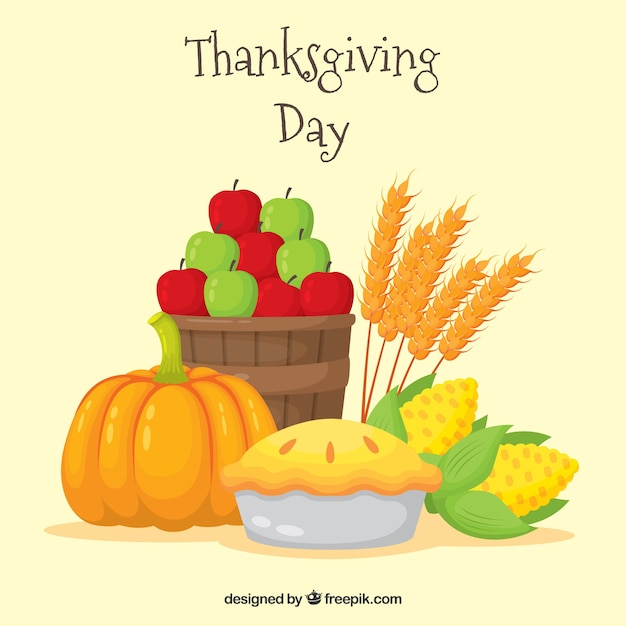 Thanksgiving delicious food background