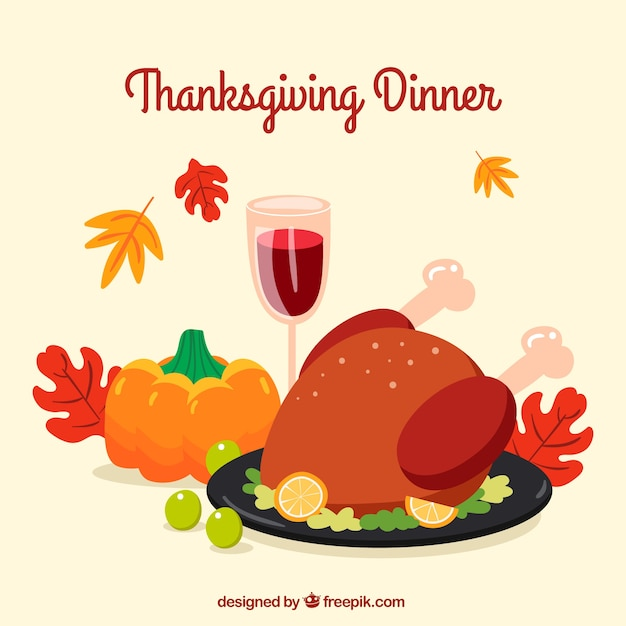 Thanksgiving dinner background