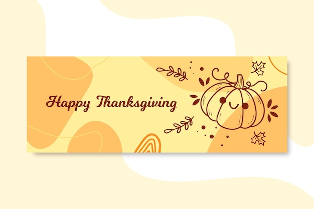 Thanksgiving facebook cover Free Vector