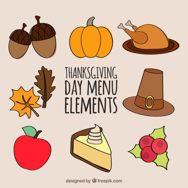 thanksgiving flat icons collection vector free download