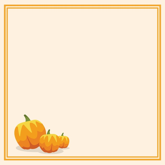 Thanksgiving frame with pumpkins Vector | Premium Download