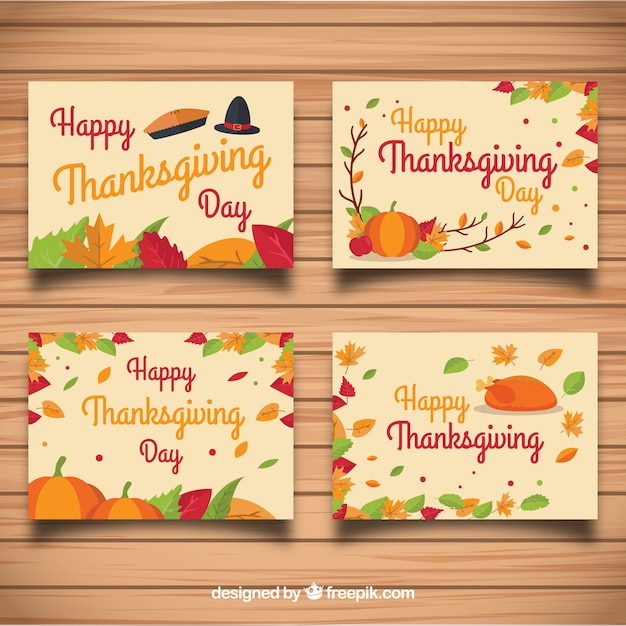 Thanksgiving greeting card set