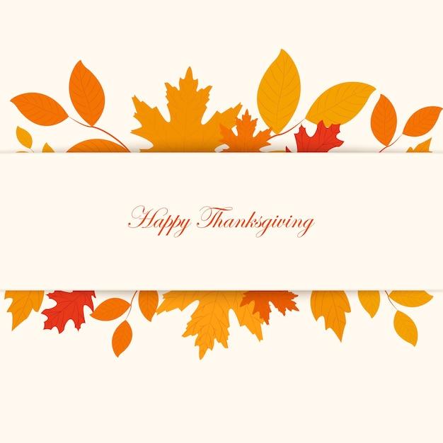 추수 감사절 레터링 인사말 문구-행복한 추수 감사절. 가 나무는 흰색 바탕에 나뭇잎. 프리미엄 벡터