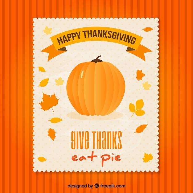 thanksgiving pumpkin flyer vector free download. Black Bedroom Furniture Sets. Home Design Ideas