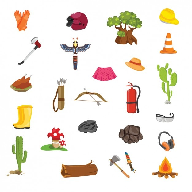 Thanksgiving, spring and safety elements Free Vector