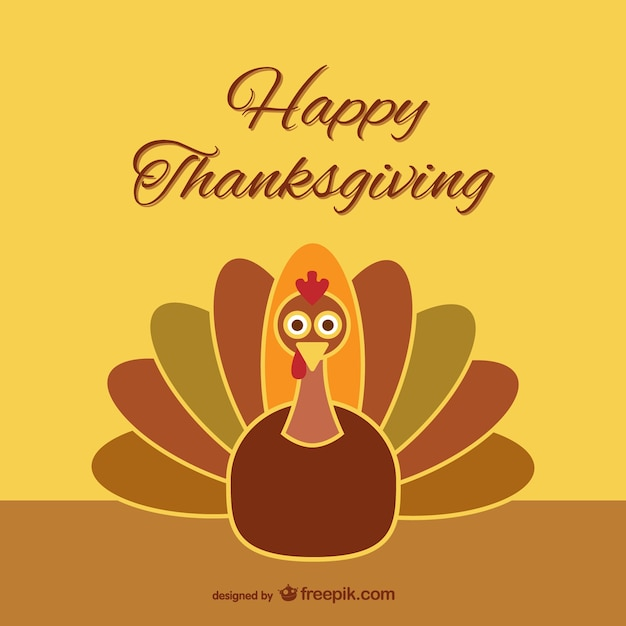 thanksgiving turkey cartoon vector free download Free Vector Badges Vector Flyer Template