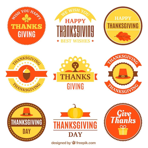 Thanksgiving vintage sticker collection
