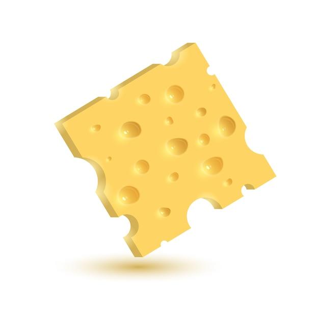 Сыр. иллюстрация изолирована на белом фоне. Premium векторы