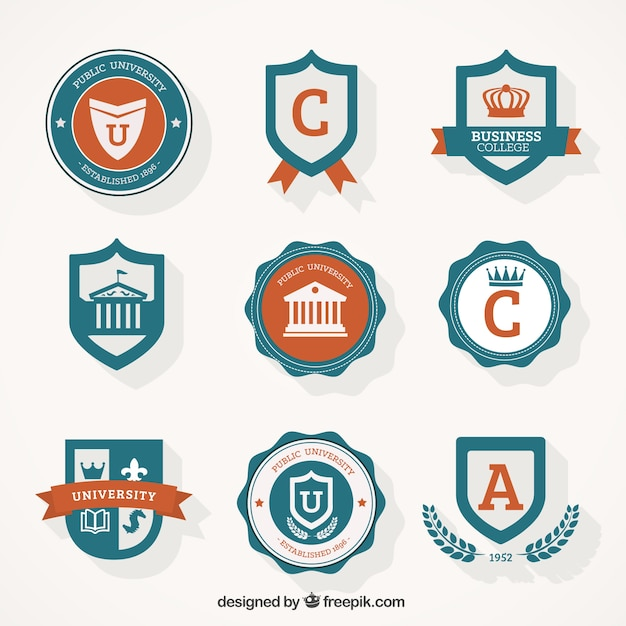 The classic label stickers vector free vector
