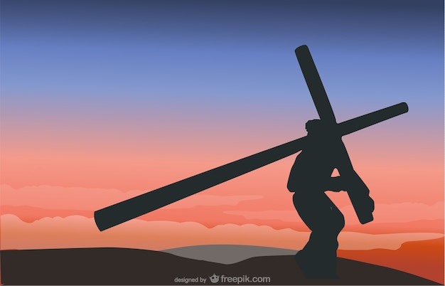 The Crucifixion scene vector Free Vector