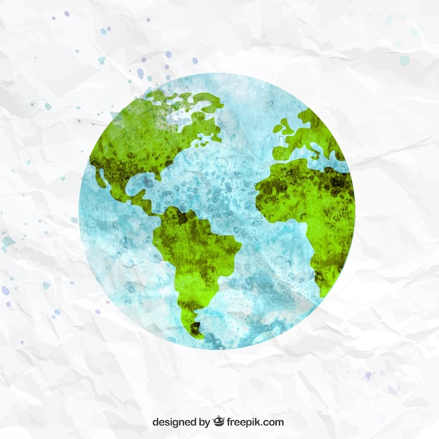 The earth in watercolor style vector premium download the earth in watercolor style premium vector gumiabroncs Images