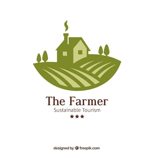 the farmer logo vector free download