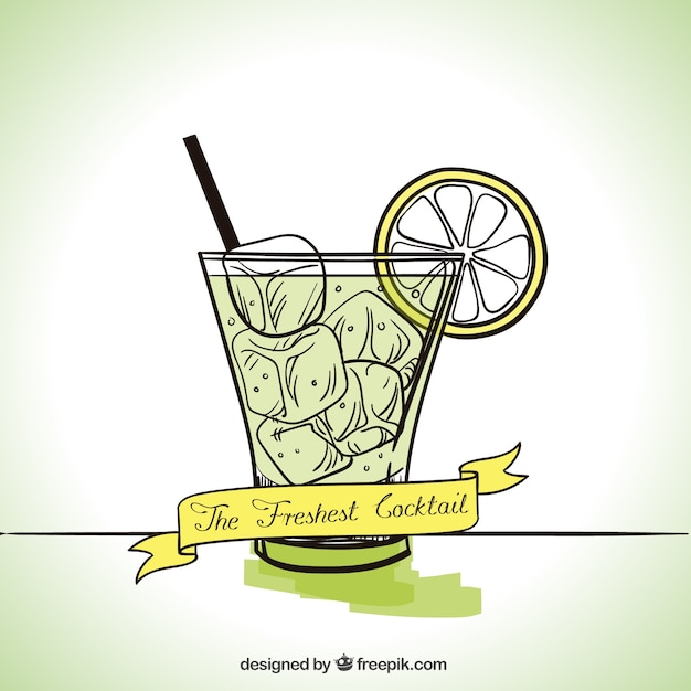 The freshest cocktail Vector   Free Download
